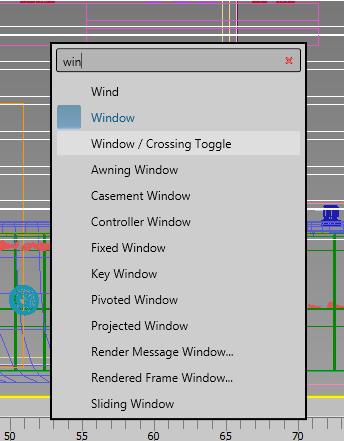 """Pressione """"x"""" para abrir o Command Search. digite """"Win"""" e selecione na lista """"Window / Crossing Toogle"""""""
